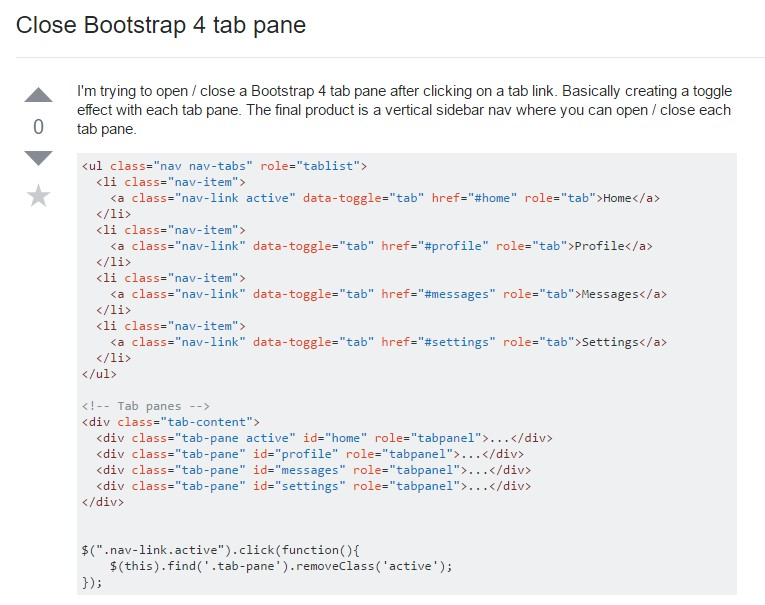 The best way to  turn off Bootstrap 4 tab pane