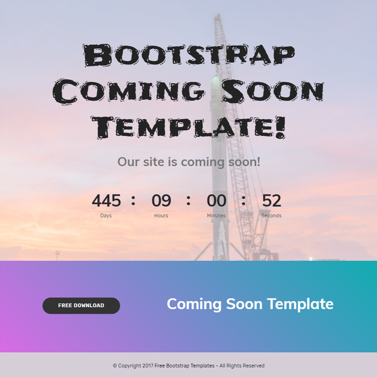 CSS3 Bootstrap Coming Soon Themes