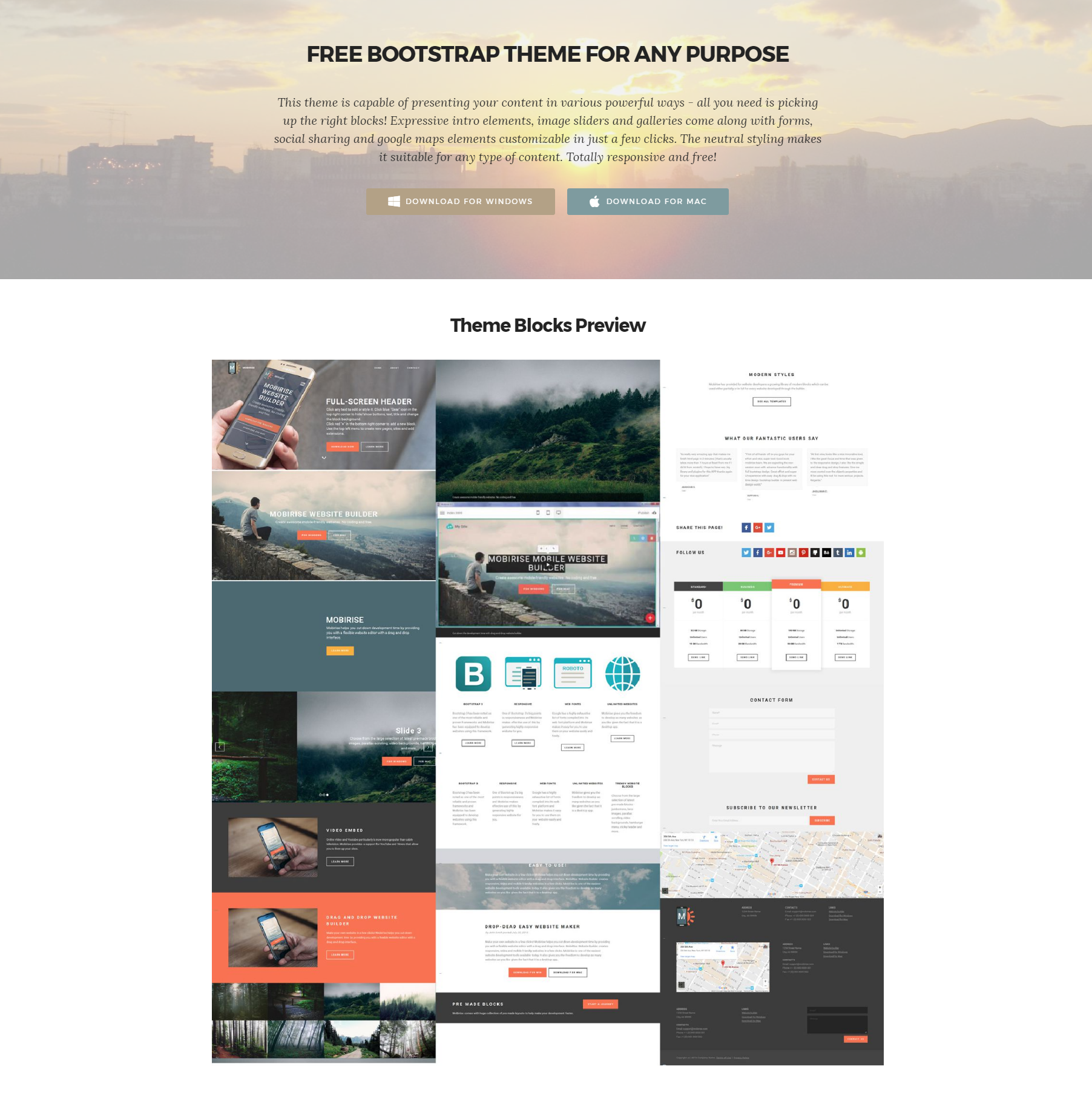 HTML5 Bootstrap Templates