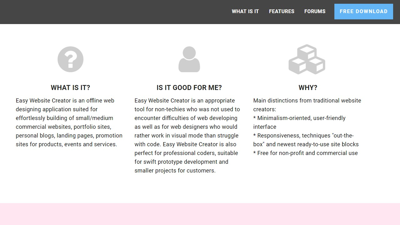 Free and Easy Website Creator Template