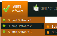 Html Horizontal Submenus Templates easy shell menu script