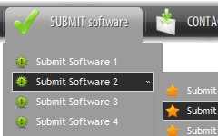 Template Menu Submenu round menu structure