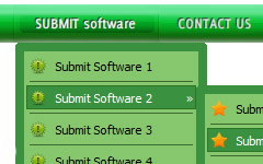 Java Animated Menu Bar show hide div menu template