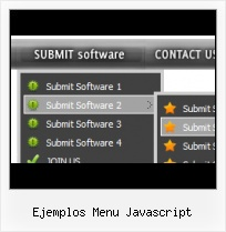 Menus In Javascript Stylish Horizontal javascript sliding menu template