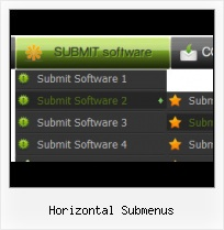 Horizontal Menu Bar Javascript template html menu and submenu