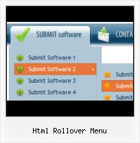 Descargar Menu Horizontal Rollover sliding menu selection html