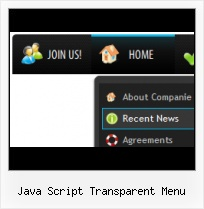Java Script Menubar red drop down menu