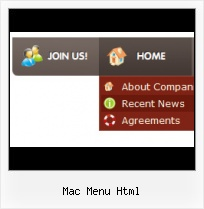 Popup Menu Slider free website template java menu