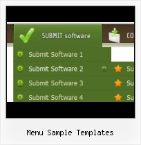 Floating Menu Template joomla menu rounded corner button