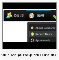 Arrow Side Menu horizontal popup menu java