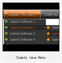Java Swing Right Click Menu slide down menu onclick