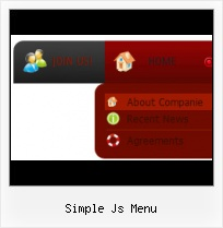 Drop Down Menu Menu Desplegable glossy tabular menu design