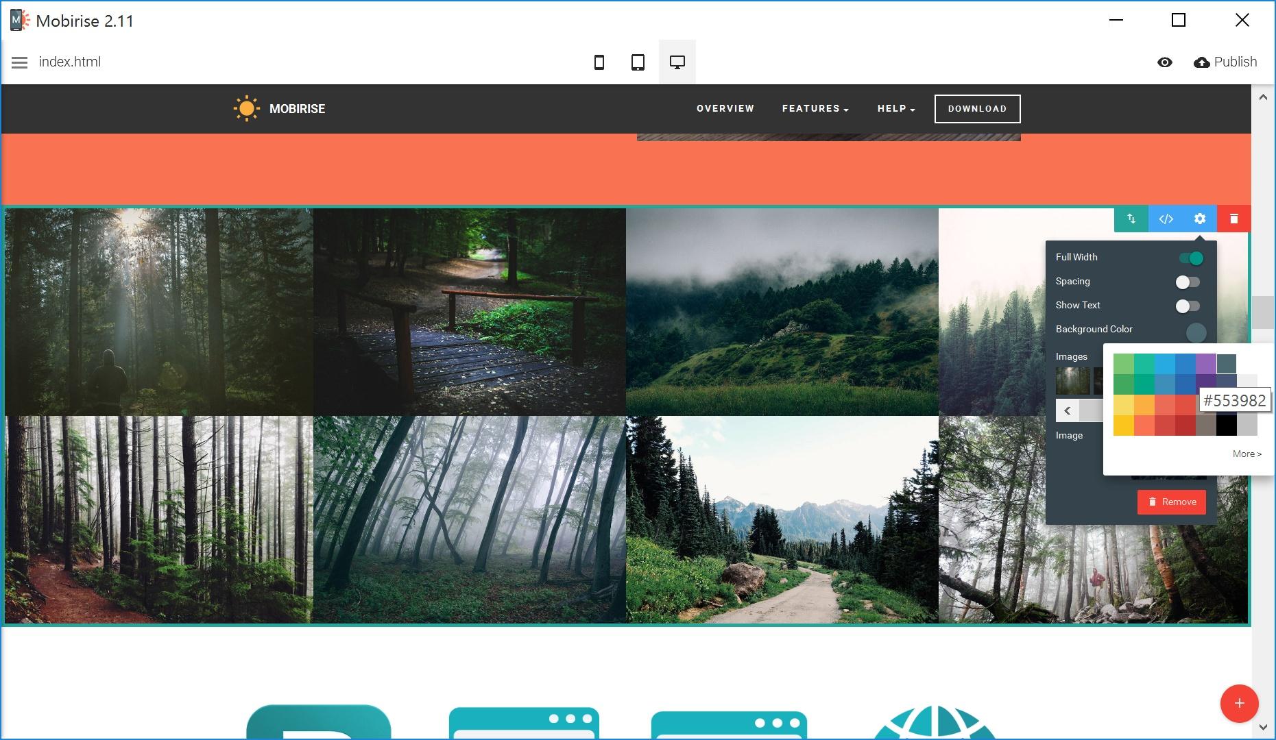 HTML5 Web Page  Creator