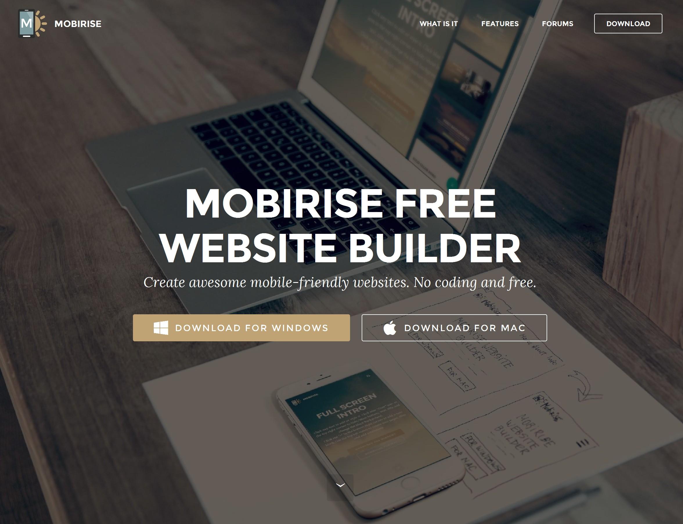 Bootstrap Responsive Web Site Maker Software