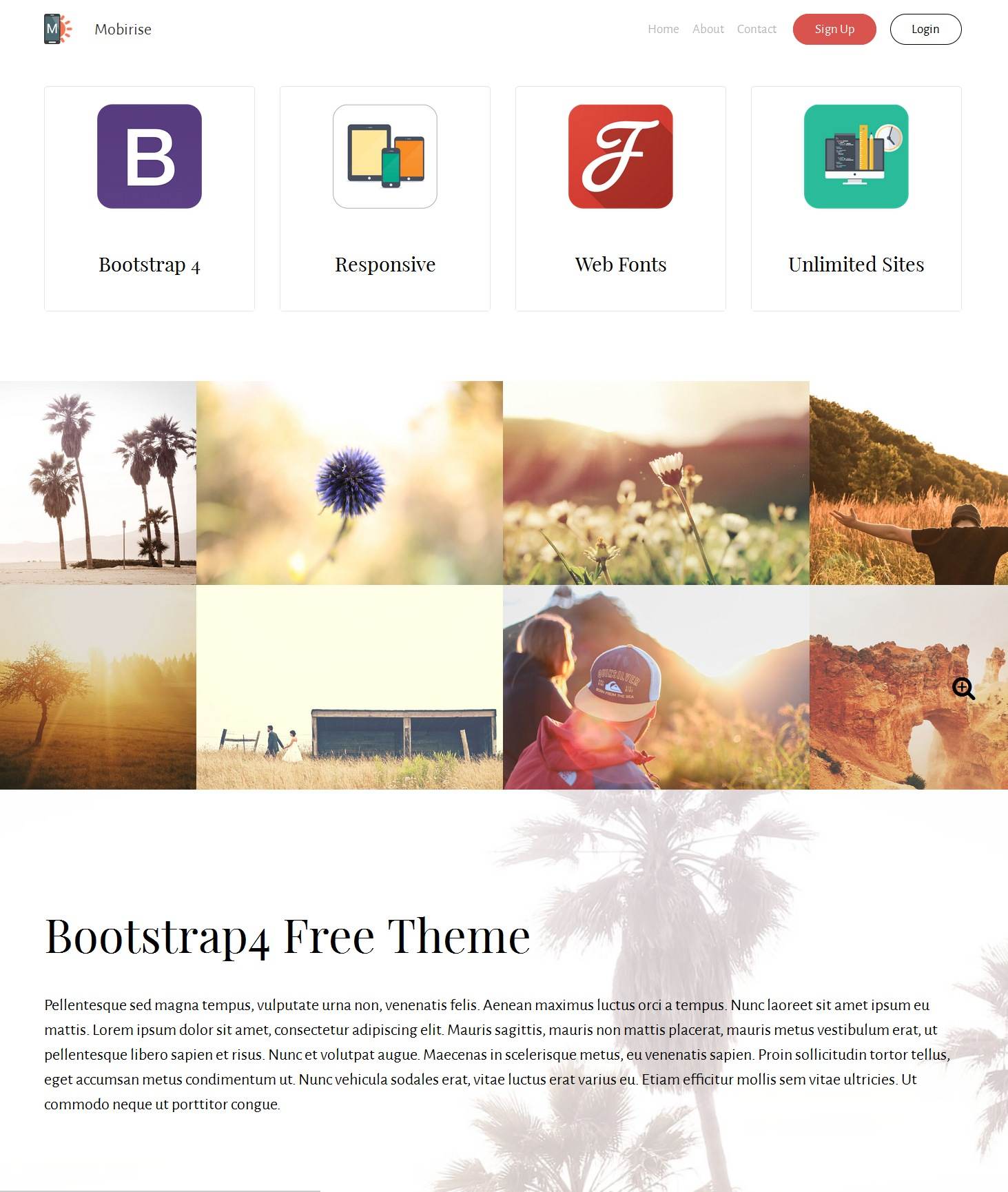 Free Download Bootstrap Landing Page Theme