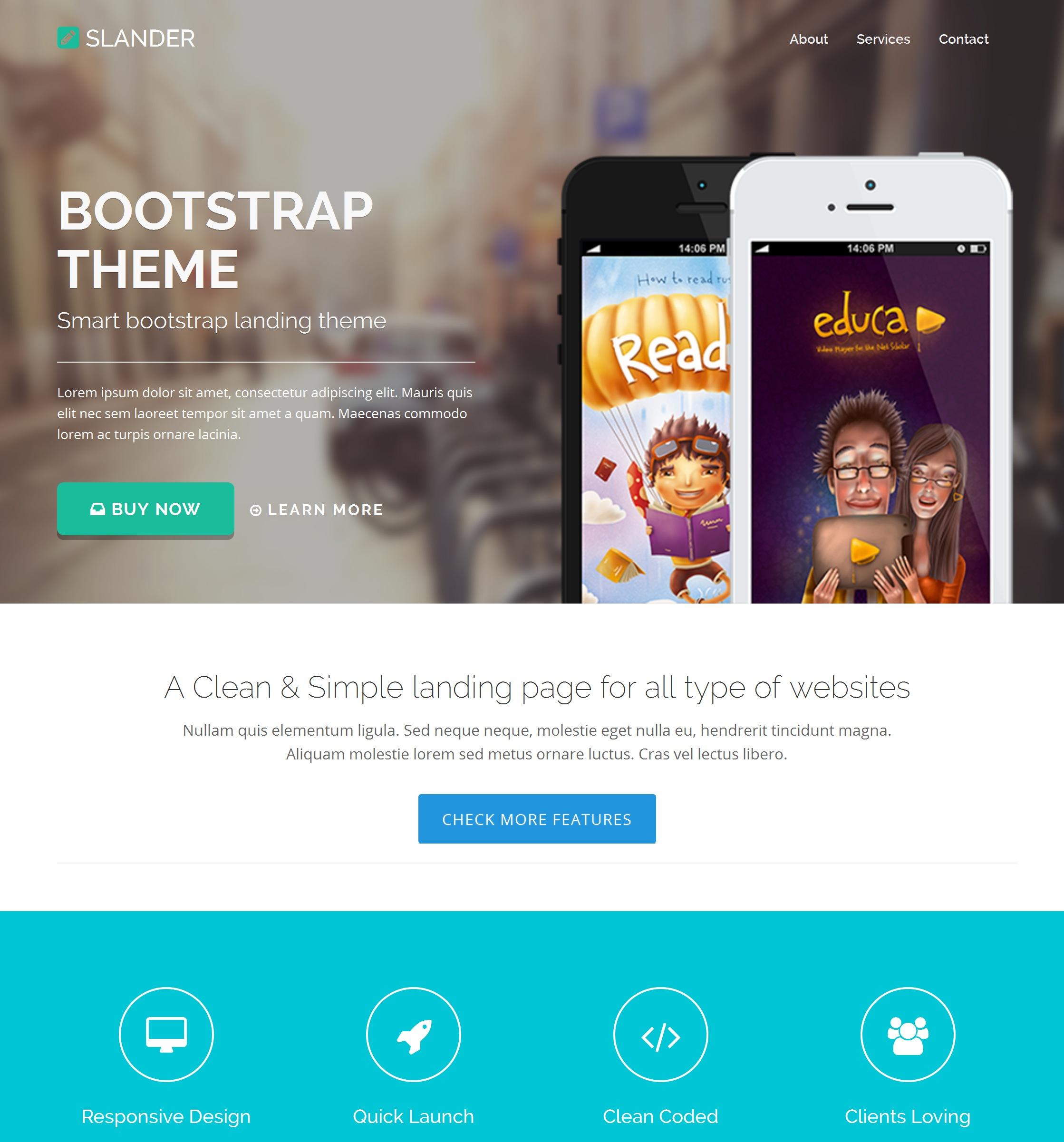 Responsive Bootstrap Portal Theme