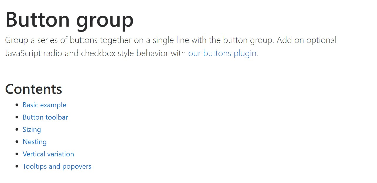 Bootstrap button group official documentation