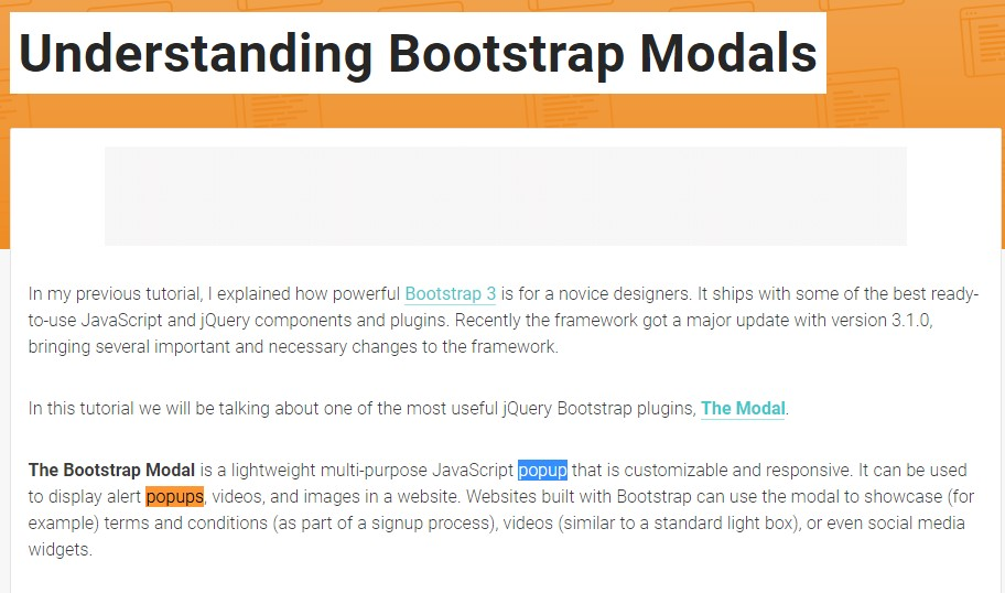 Another  handy  post  concerning Bootstrap Modal Popup