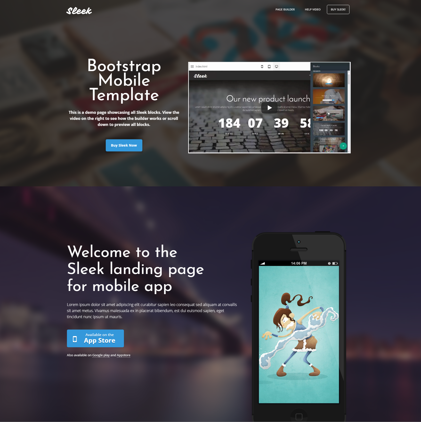 Responsive Bootstrap Mobile Templates