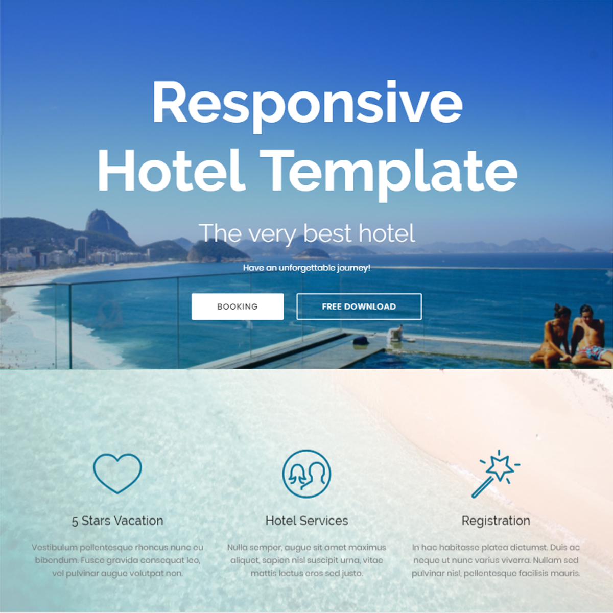 Free Bootstrap Hotel Templates