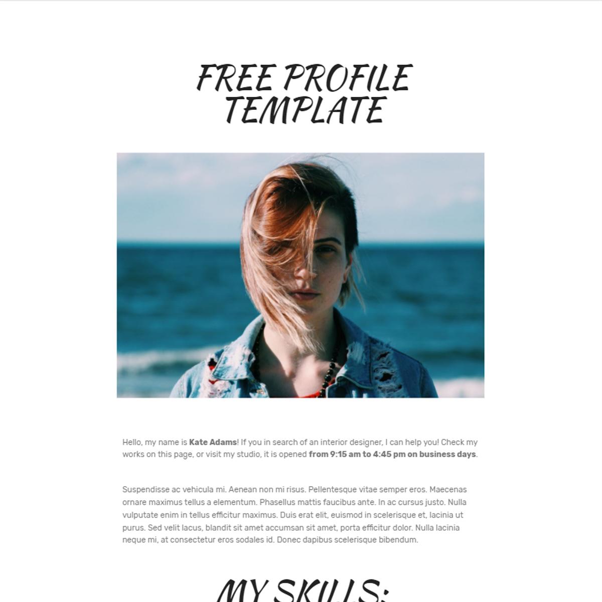 HTML Bootstrap  Profile Templates