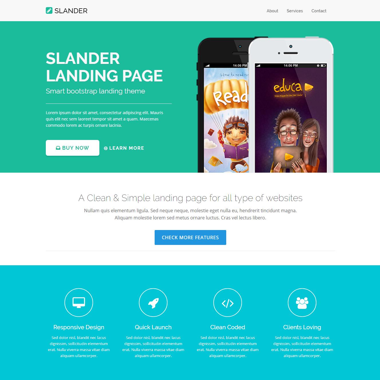CSS3 Bootstrap Slander Themes