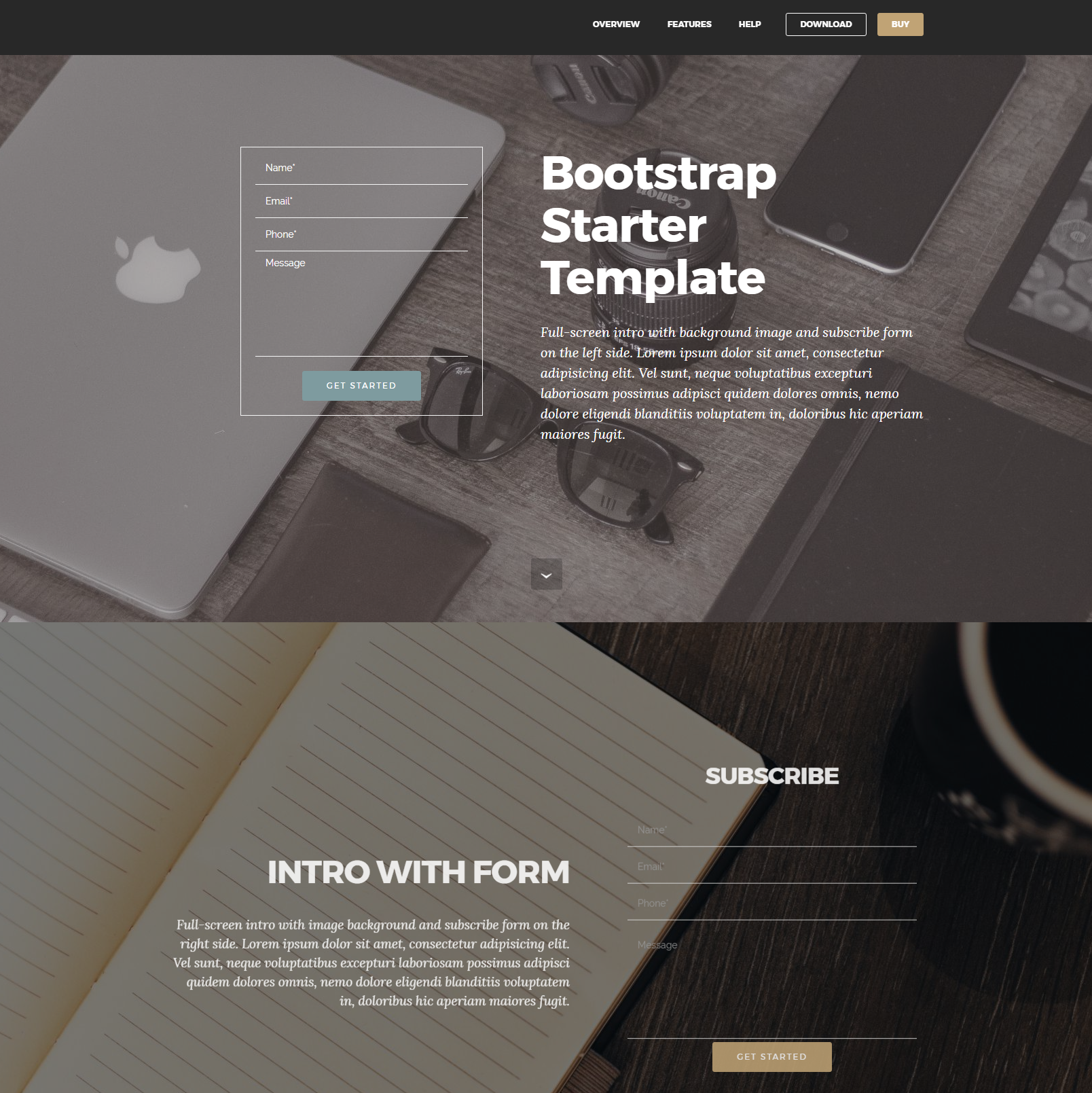 CSS3 Bootstrap Starter Themes