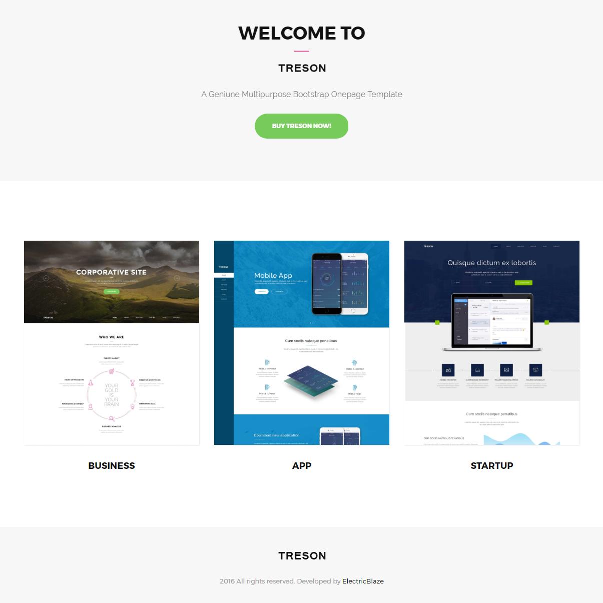 HTML5 Bootstrap Treson Themes