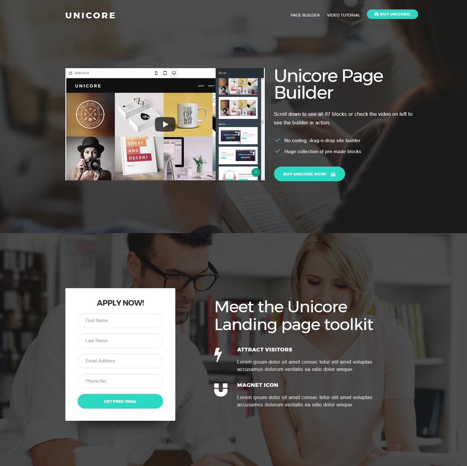Responsive Bootstrap Unicore Templates