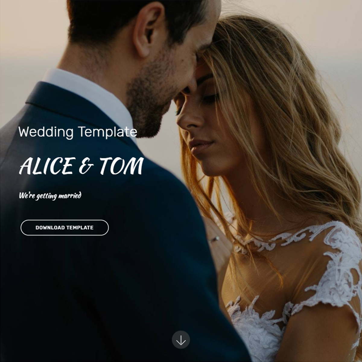 Responsive Bootstrap Wedding Themes