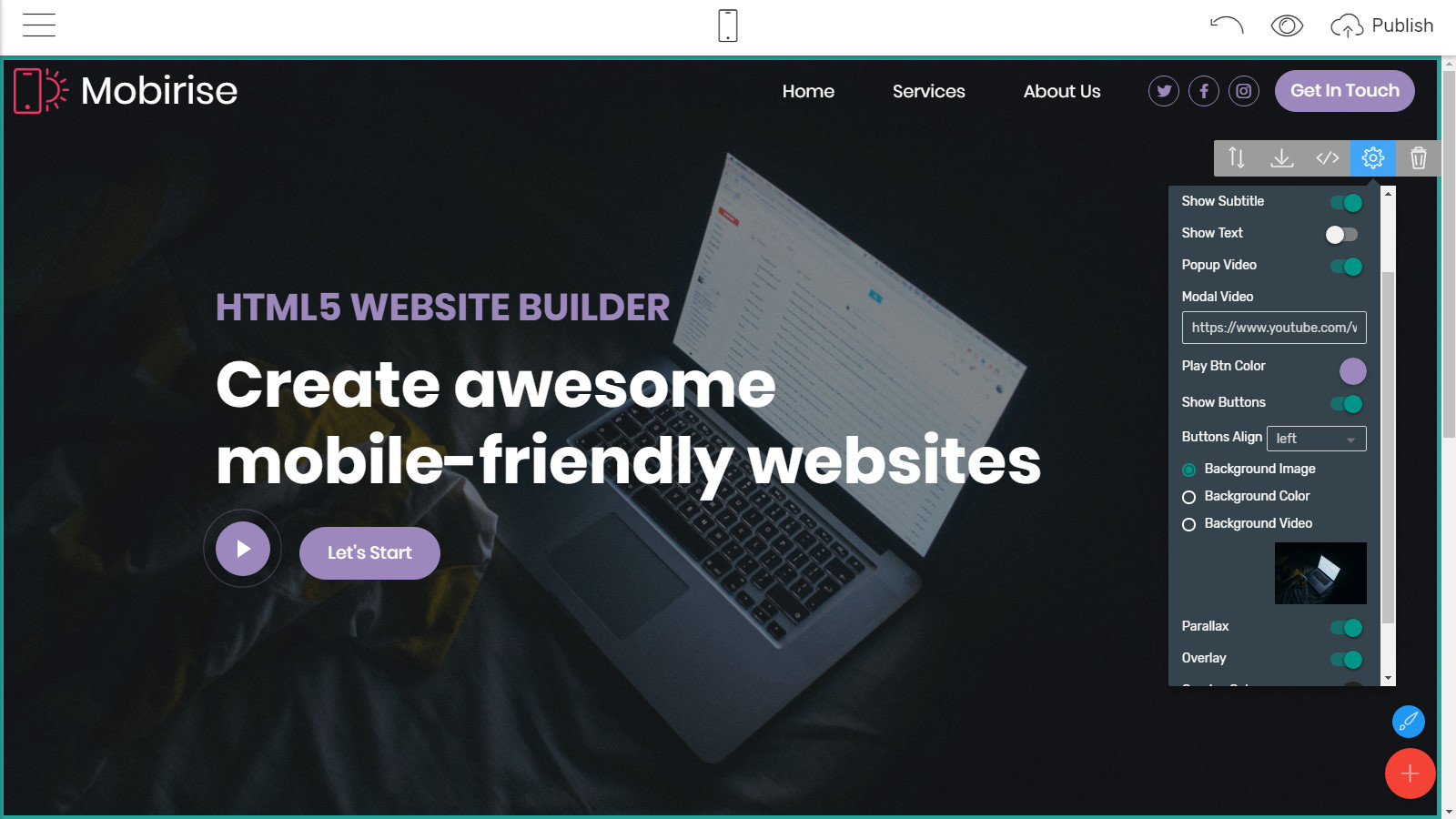 mobile page themes