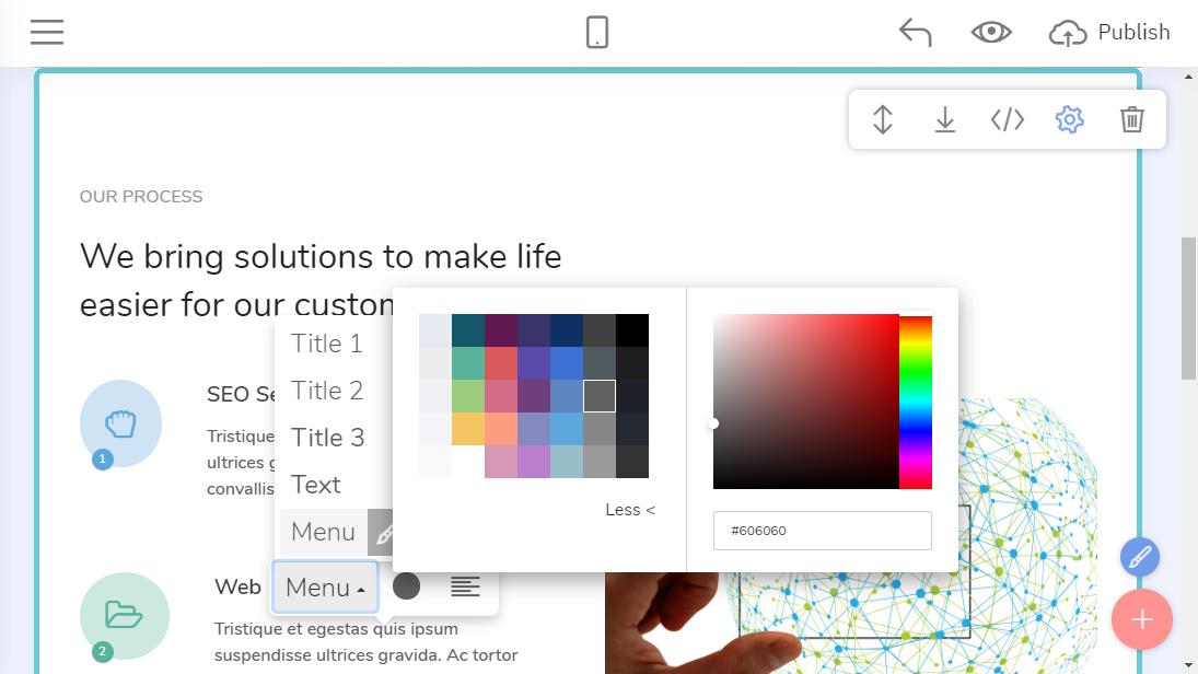 Drag and Drop Website Creator