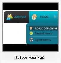 switch menu html template